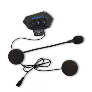 BT-12 Motorcycle Helmet Headset Wireless bluetooth Headphone Speaker Hands-Free Headset Intercom Motorbike Anti-interference Headphone FM GPS