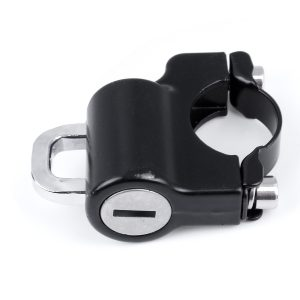 Motorcycle Universal Helmet Lock For 22mm Engine Crankcase Crash Bar Motorbike