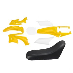 Motorcycle Plastic Fairings + Tall Seat For 49cc Mini Moto Pocket Dirt Bike