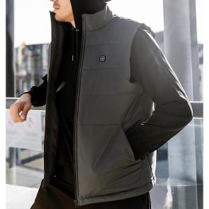 SKAH 4-Heating Area Graphene Electric Heated Vest Men Outdoor Winter Warm USB Smart Thermostatic Heating Jacket from Xiaomi Youpin