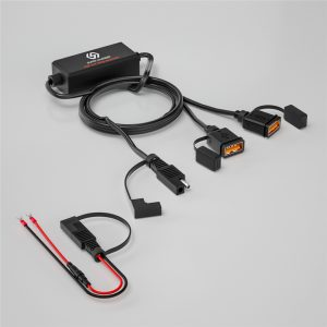Motorcycle SAE Version Charger Equipped With Dual USB Fast Charging Version Charger Smart Chip Safety Device
