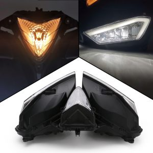 Motorcycle Headlight Assembly Angel Eyes Front Clear Headlight Headlamp For Yamaha YZF R25 R3 YZF-R25 YZF-R3 2013-2017