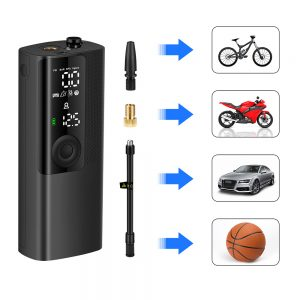 Newo 120PSI Portable Inflatable Pump 2000mAh with LED Light Multi-function Digital Display Mini Air Compressor Tyre Inflator Rechargeable Air Pump for Car Motorcycle Bicycle Balls