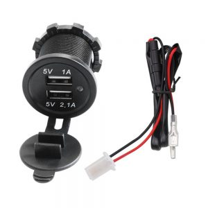 Universal 5V 2.1A/1A DC12V-32V Car Charger USB Vehicle multifunctional Waterproof Dual USB Charger 2 Port Power Socket for Auto Motorcycle Ship