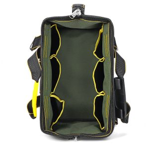 """13/16″ Electrician Tool Bag Storage Pouches Heavy Duty Case with Shoulder Strap"""""""