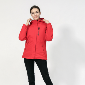 Men Women Electric Heated Coats Jackets Constant Temperature USB Heating Clothes Winter Thicken Windproof Warm Hooded Motorcycle Riding Bicycle Outdoor Skiing Hiking Waterproof Thermal