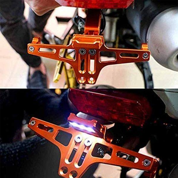 12V Motorcycle Flowinig LED License Plate Lamp Turn Signals Tail Brake Light
