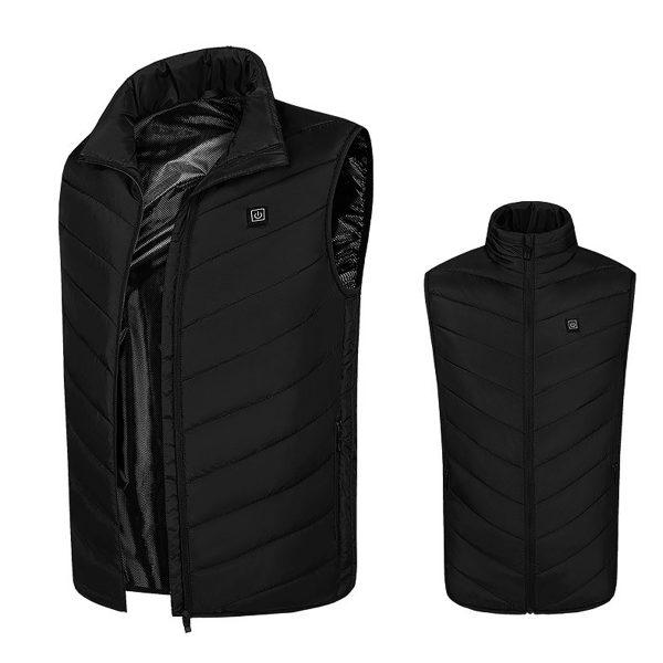 4/8 Heating Area Heated Vest Warm Electric USB Charging Men Women Jacket Winter Body Coat Thermal