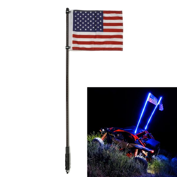 3/4ft 108/144 Muti Colors LED Whip Flag Light 20 Colors 22 Modes For Off-road Vehicle ATV