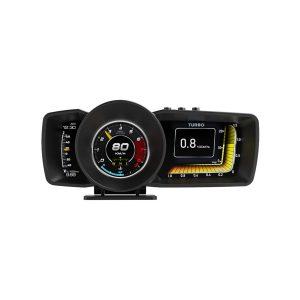 OBD2 HUD Multi Gauge Boost Scan Head-Up Display Car Turbine Pressure Oil Temp