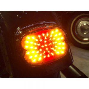 Motorcycle LED Brake Turn Signal License Plate Light Tail Light Assembly For Harley Davidson Sportster FLST Electra Glides