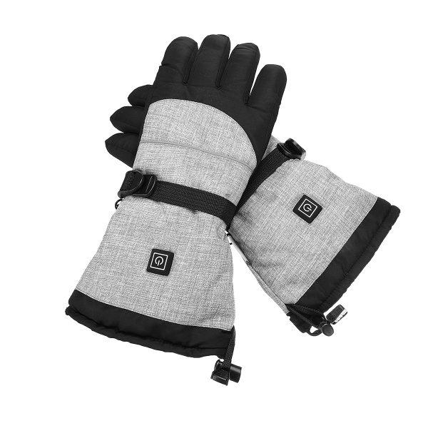 Waterproof 3-Gear Electric Heated Gloves Motorcycle Battery Thermal Ski Glove