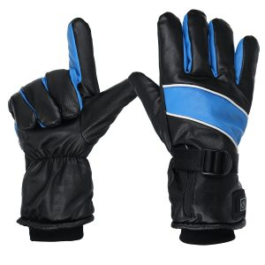 Electric Heated Full Finger Gloves Rechargeable Battery Motorcycle Outdoor Warmer Mittens