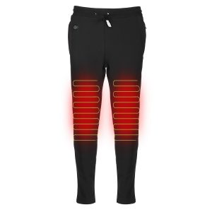 Electric Heated Pants Winter Warm Men Women USB Heating Elastic Motorcycle Riding Pants Trousers