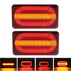 2PCS 12V 24LED Rear Tail Light Turn Signal Running Brake Lamp for Van Trailer Truck