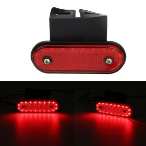 24V 20 LED Oval Side Marker Light Position Turn Signal Lamp for Car Truck Trailer