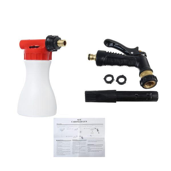 1L Car Foam Lance Hose Pipe Lance Pressure Soap Water Wash Sprayer Cleaning