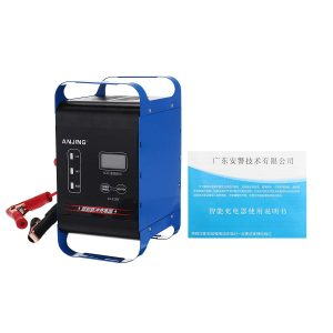 ANJING 12V/24V 400W Automatic Battery Charger Power Pulse Repair Wet Dry Lead Acid Batteries Digital LCD Display For Car Motorcycle