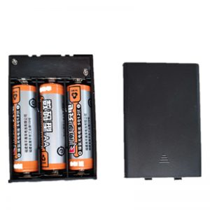 1Pcs AAA 3 Slot Standard Battery Holder Case Box With Leads With ON/OFF Switch Cover Plastic Storage