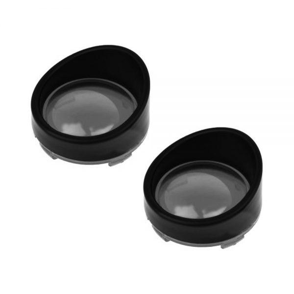 2Pcs Motorcycle Turn Signal Light Bezels Lens Cover Visor Trim Rings For X1883 1200 X48 Road Kings