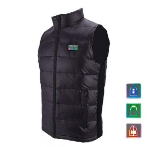 MIDIAN 13 Heating Pads Electric Heated Vest 90% White Duck Down Men Women For Skiing Skating Mountaineering Fishing Riding