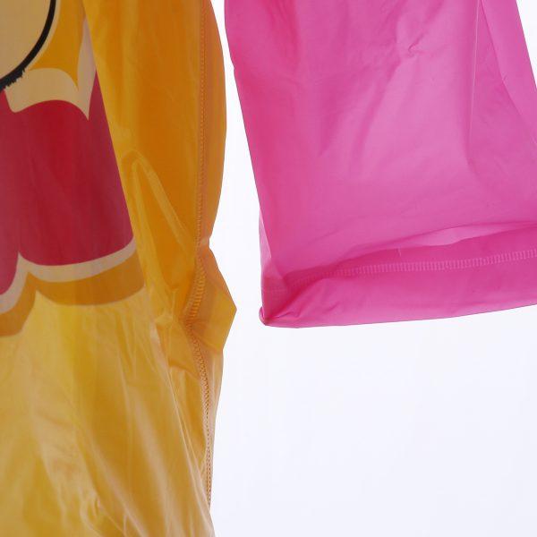 Child Kids Hooded Schoolbag Rain Coat Poncho Raincoat Jacket Cover Long Rainwear Poncho PVC