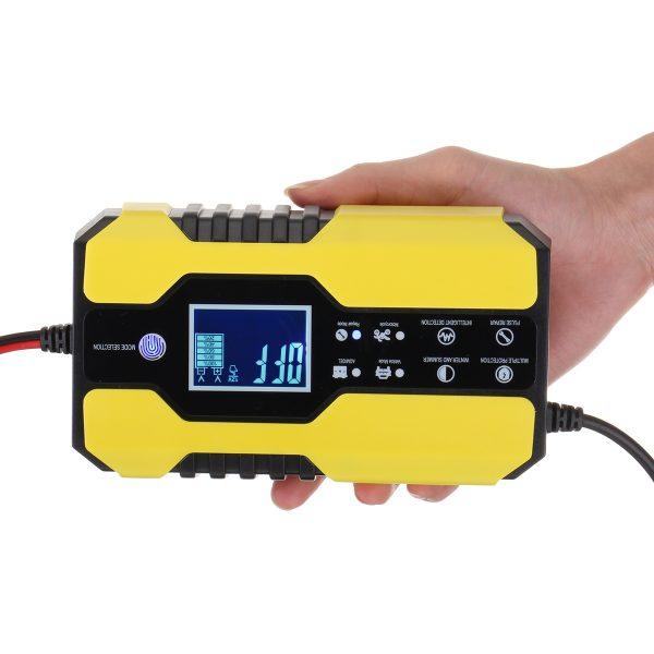 12V 24V 150AH Smart LCD Automatic Car Battery Charger Motorcycle Pulse Repair