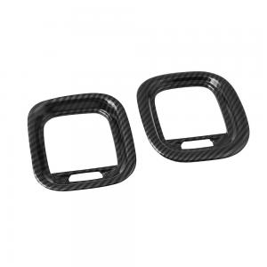 2PCS Carbon Fiber Air Vent Cover AC Outlet Trim Kit For Dodge Charger 2015+