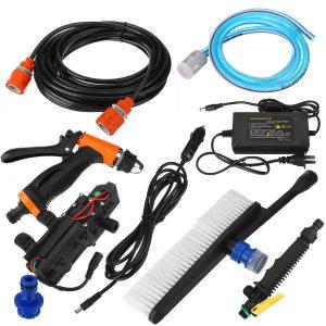 12V 100PSI/160PSI 120W 10L/min Car Washer 1MPA High Pressure Auto Diaphragm Self Priming Water Pump