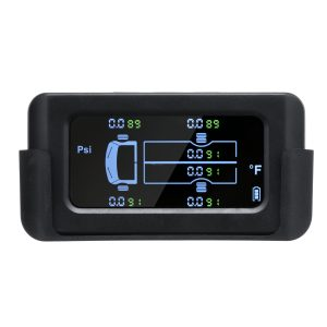 14.5Bar TPMS Tyre Pressure System Solar Power LCD Display+ 6 External Sensors Beep Alert
