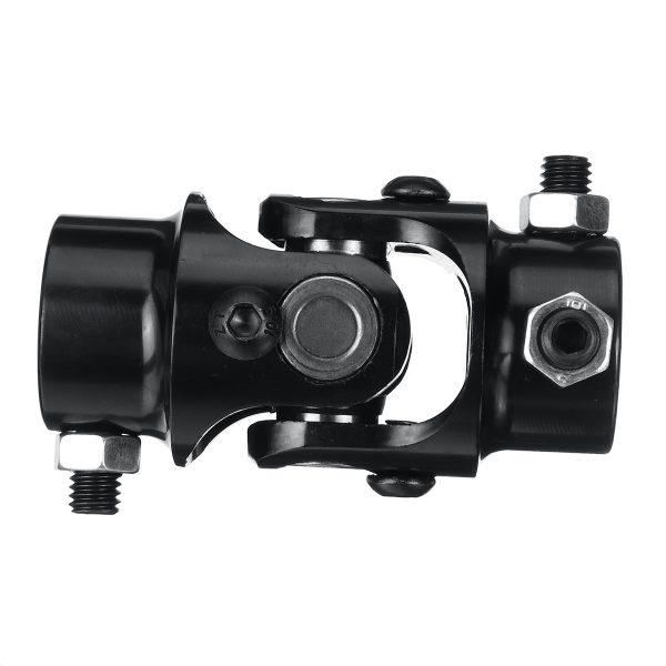 "3/4"" DD X 3/4"" DD Black Powder Coated Universal Steering Shaft U Joint Coupler"