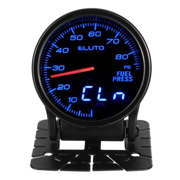 """2"""" 52mm 0-80PSI 10 Color LED Digital Car Oil Pressure Gauge Meter With Sensor"""