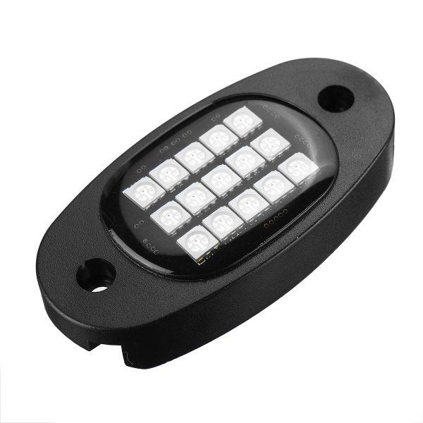6-in-1 RGB LED Rock Light Fender Underbody Atmosphere Lamp Remote bluetooth APP