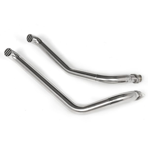 2PCS Chrome Pipes Full Exhaust System + Silencer For Honda STEED VLX400 VLX600