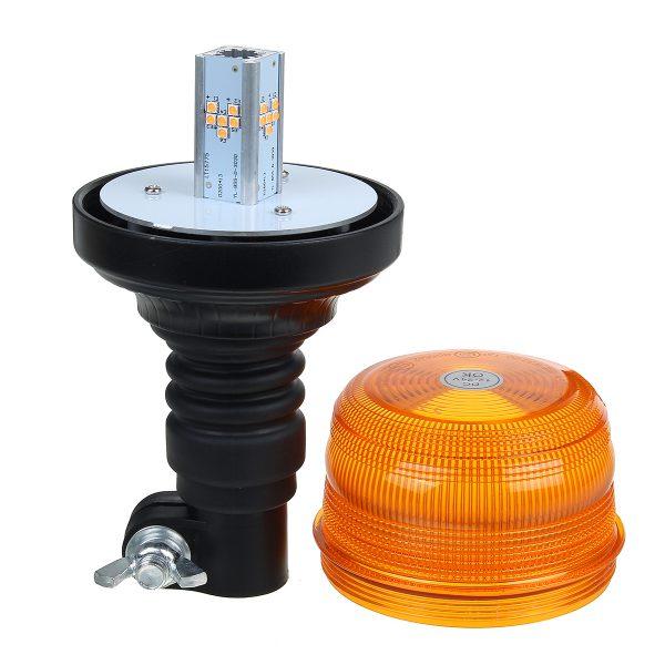 24/12V Vehicle Roof Amber Flashing Emergency Strobe Warning Light DIN Pole Mount
