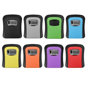 4 Digit Combination Key Lock Box Outdoor Wall Mount Safe Security Storage Case