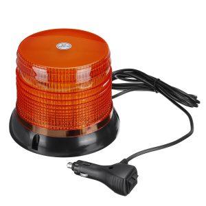 72 LED Magnetic Flashing Amber Beacon Warning Emergency Rotating Strobe Light