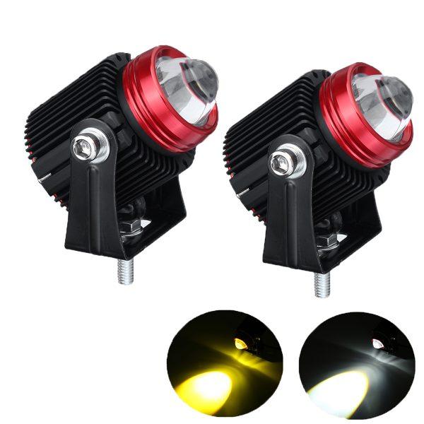 1Pair 20W 9-30V IP65 6500K LED Work Light Spotlight Driving Fog Lamp for Off-road Truck Boat