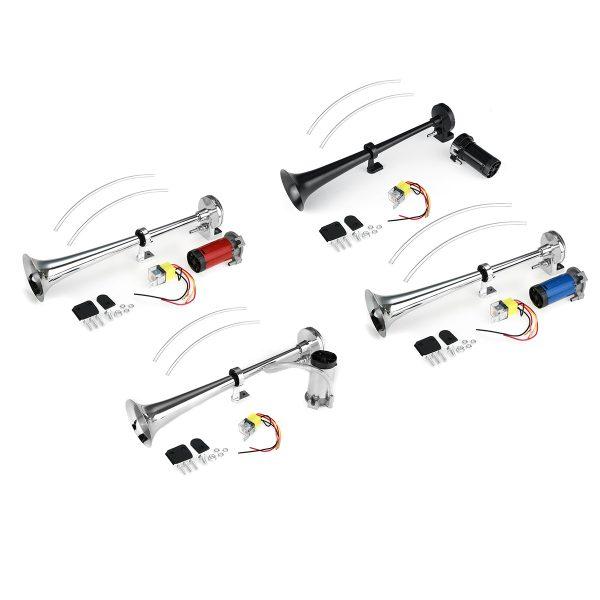 Viping Car Horn 150DB Air Horn 450mm Loudspeaker Horn Chrome Zinc Black Single