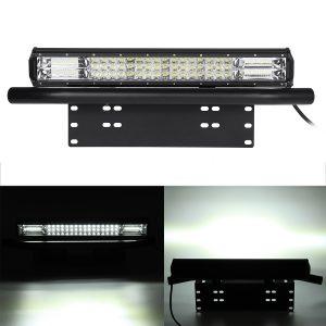 "20Inch 248W Spot Flood Combo LED Work Light Bar + 23 License Number Plate Frame"""