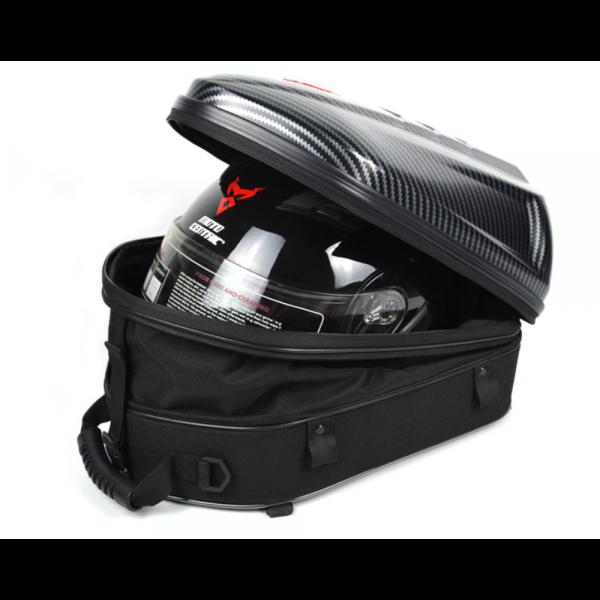 MOTOCENTRIC ABS Hard Shell Motorcycle Tail Bag Waterproof Shoulder Bag Large Capacity Motorcycle Backpack