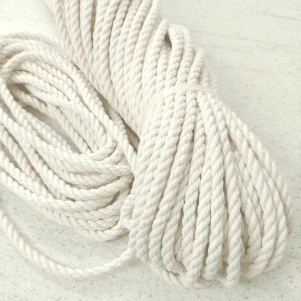 8mm 1M/2M/3Meter/4M/5M Macrame Rope Twisted String Cotton Cord For Handmade Natural Beige Rope DIY Home Wedding Accessories Gift