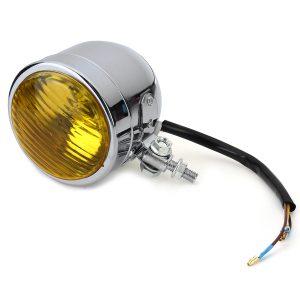 Motorcycle Vintage Custom Headlight Fog Light HS1 12V 35W Front Lamp Universal