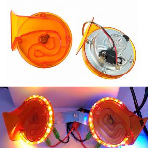 12V Electric Air Snail Horn Waterproof With LED Light For Car Motorcycle