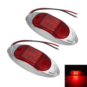 2PCS 24V 6LED Side Marker Lights Indicator Car Trailer Truck Lorry Van Lamp