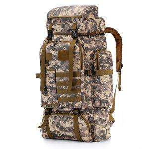 80L Military Tactical Backpack Outdoor Rucksack Travel Waterproof Shoulder Bag