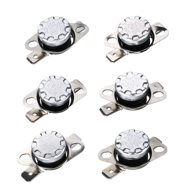 5Pcs 250V 10A KSD301 Normal Open 120 Thermostat Temperature Thermal Controller Control Switch