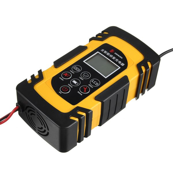 100W 12V/24V 4A/6A/8A Pulse Repair LCD Battery Charger For Car Motorcycle Lead Acid Battery Agm Gel Wet
