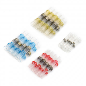 100PCS Solder Seal Wire Connectors Heat Shrink Solder Butt Connectors Terminals Connector Kit Automotive Marine Insulated