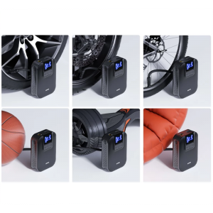 Licheers 5V 150Psi 5000mAh 80W Wireless Air Pump With LED Lamp Digital Tire Inflator Pressure For Car Motorcycle Bicycle Ball Mattress